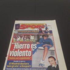 Coleccionismo deportivo: SPORT N° 6472. 3 DE NOVIEMBRE 1997.. Lote 261551505