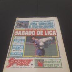 Coleccionismo deportivo: SPORT N° 4266. 28 DE SEPTIEMBRE 1991.. Lote 261553695