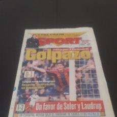 Coleccionismo deportivo: SPORT N° 5894. 31 DE MARZO 1996.. Lote 261556340