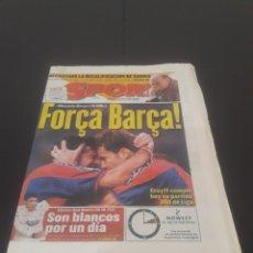 Coleccionismo deportivo: SPORT N° 5893. 30 DE MARZO 1996.. Lote 261557580