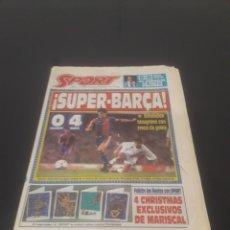 Coleccionismo deportivo: SPORT N° 5063. 12 DE DICIEMBRE 1993.. Lote 261562600