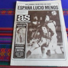 Coleccionismo deportivo: AS 5175 1-6-84 SELECCIÓN ESPAÑA FÚTBOL MARADONA NÁPOLES AMANCIO ENTRENADOR REAL MADRID ELCHE ASCENSO. Lote 261676070