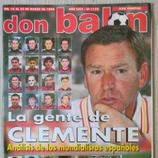 Coleccionismo deportivo: DON BALÓN Nº 1170 - AÑO 1998. POSTER BARCELONA CAMPEÓN SUPERCOPA DE EUROPA. Lote 261784305