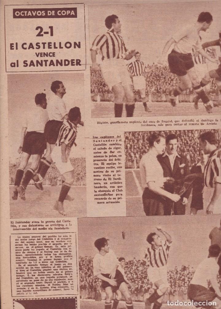 Coleccionismo deportivo: Marca 1945 Bustos del Sevilla Gijón y Oviedo empatan en el Molinón 2-1 Castellón vence al Santander - Foto 3 - 262060755