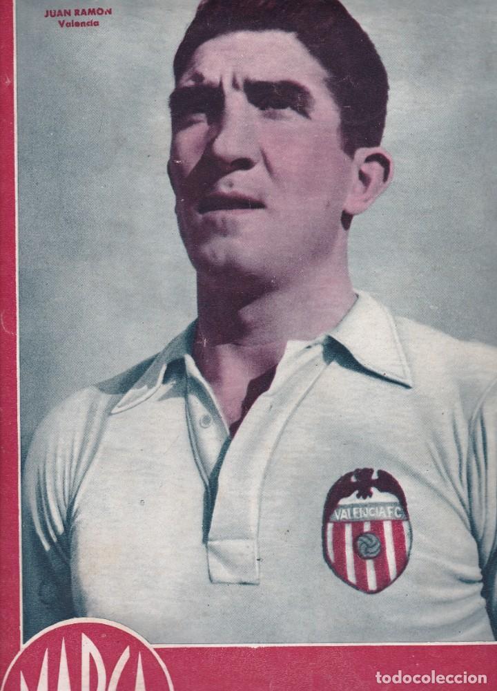 MARCA Nº 99 1944 JUAN RAMÓN VALENCIA 5-1 EL GRANADA VENCE AL OVIEDO (Coleccionismo Deportivo - Revistas y Periódicos - Marca)
