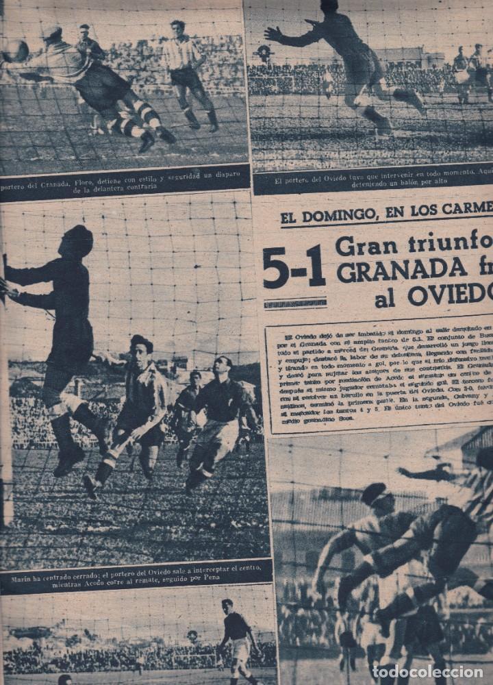 Coleccionismo deportivo: Marca nº 99 1944 Juan Ramón Valencia 5-1 el Granada vence al Oviedo - Foto 2 - 262061725