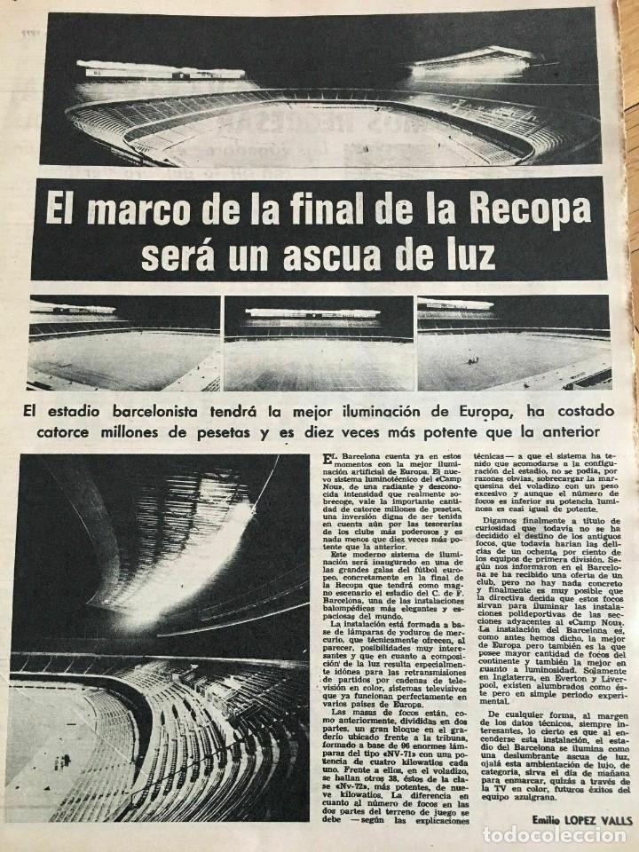 Coleccionismo deportivo: MUNDO DEPORTIVO (22-5-72) RECOPA EUROPA FINAL GLASGOW RANGERS DINAMO MOSKVA MOSCU - Foto 8 - 262170915