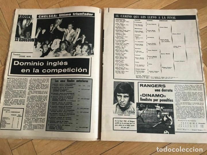 Coleccionismo deportivo: MUNDO DEPORTIVO (22-5-72) RECOPA EUROPA FINAL GLASGOW RANGERS DINAMO MOSKVA MOSCU - Foto 9 - 262170915