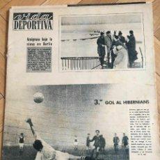 Coleccionismo deportivo: VIDA DEPORTIVA (27-11-64) EDINBURGH HIBERNIAN 1-3 BARCELONA SELECTION BERLIN. Lote 262171925