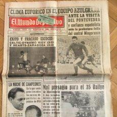 Coleccionismo deportivo: MUNDO DEPORTIVO (13-1-1966) HEART MIDLOTHIAN ZARAGOZA CELTIC GLASGOW DYNAMO KYIV. Lote 262173270