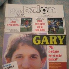 Coleccionismo deportivo: DON BALON Nº 687 1988 POSTER LARRAÑAGA REAL SOCIEDAD 88/89 - LINEKER BALTAZAR - ROMARIO. Lote 262730135