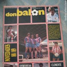 Coleccionismo deportivo: DON BALON Nº 665 1988 JUANITO CD MALAGA-CLEMENTE RCD ESPANYOL WURZ-HIERRO-CASTILLA-GÜERRI. Lote 262730600