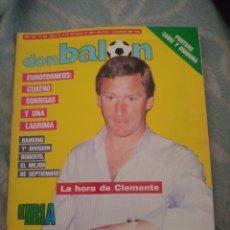 Coleccionismo deportivo: DON BALON Nº 625 1987 CLEMENTE-NAPOLES REAL MADRID-DI STEFANO VALENCIA CF-JUANITO-ROBERTO. Lote 262730780