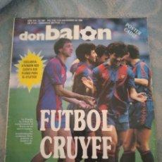 Coleccionismo deportivo: DON BALON Nº 681 POSTER CADIZ CF 88/89 LIGA 1988/1989 - CRUYFF BARÇA - ATKINSON. Lote 262731600