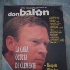 Coleccionismo deportivo: DON BALON Nº 675 1988 POSTER CD LOGROÑES PLANTILLA 88/89-CLEMENTE-ALESANCO-DONATO 1989. Lote 262733250