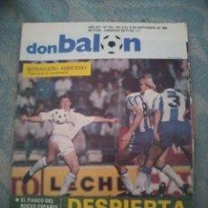 Coleccionismo deportivo: DON BALON Nº 673 1988 POSTER RCD ESPAÑOL PLANTILLA 88/89-BUTRAGUEÑO-ESPANYOL 1989. Lote 262733735