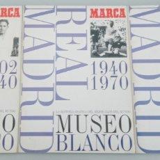 Coleccionismo deportivo: REAL MADRID- MUSEO BLANCO -3 ALBUMES COMPLETOS-1902 A1999-HISTORIA GRÁFICA DEL MEJOR CLUB MUNDO. Lote 262995315