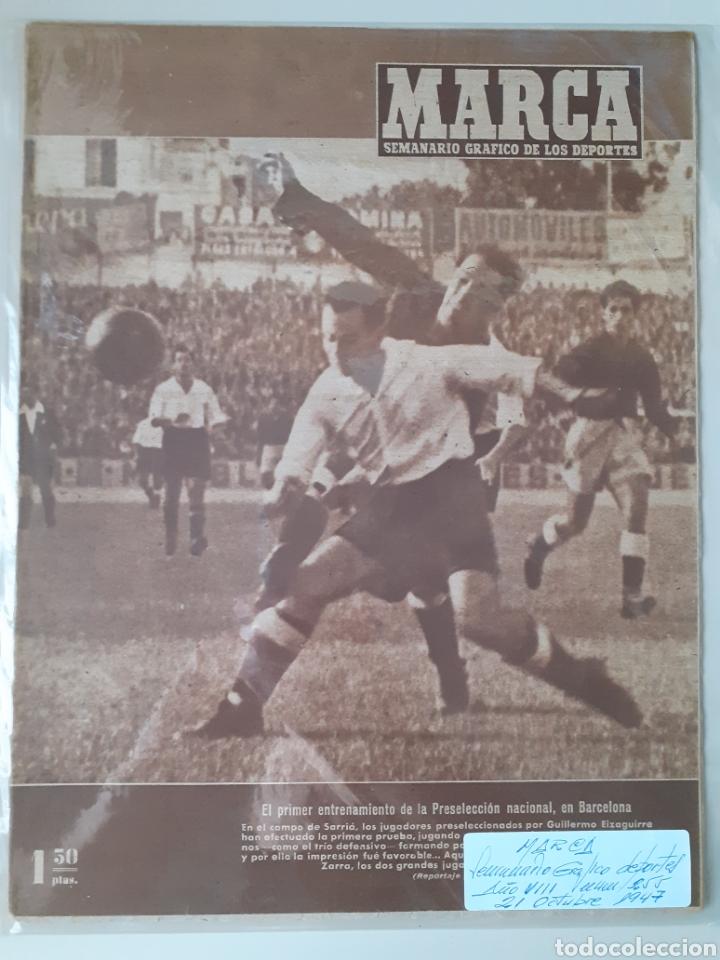 MARCA SEMANARIO GRÁFICO DEPORTIVO NÚMERO 255 FECHA 21 OCTUBRE DE 1947 (Coleccionismo Deportivo - Revistas y Periódicos - Marca)