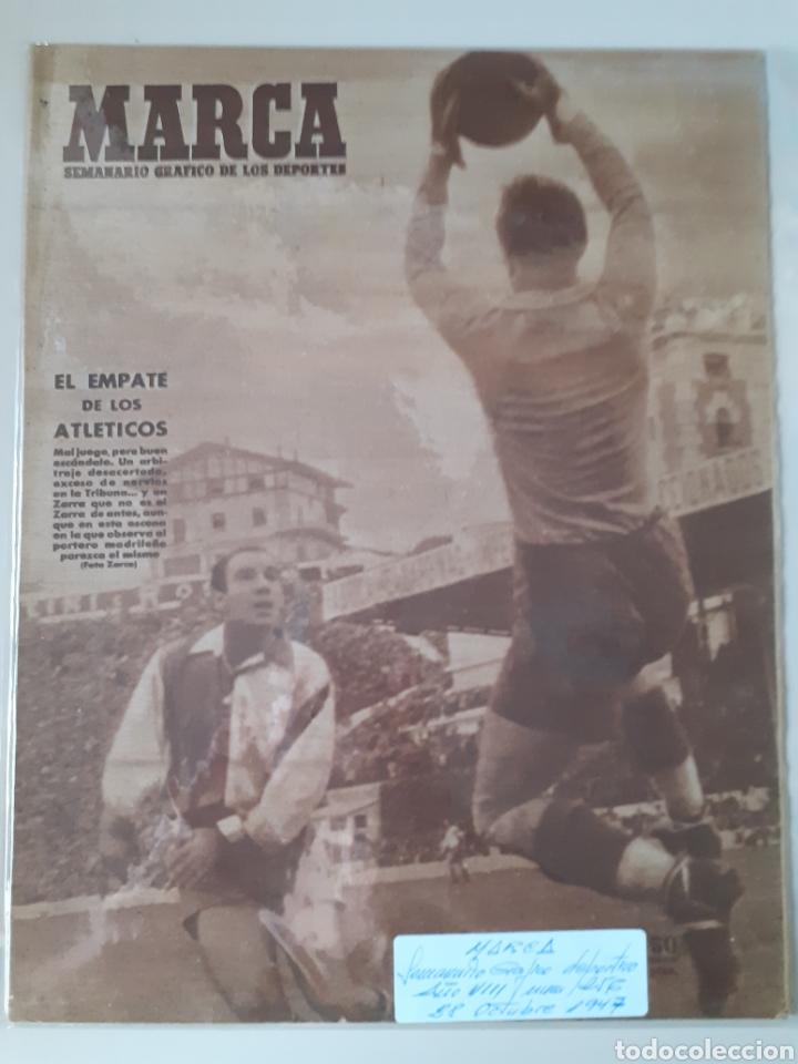 MARCA SEMANARIO GRÁFICO DEPORTIVO NÚMERO 256 FECHA 28 DE OCTUBRE DE 1947 (Coleccionismo Deportivo - Revistas y Periódicos - Marca)