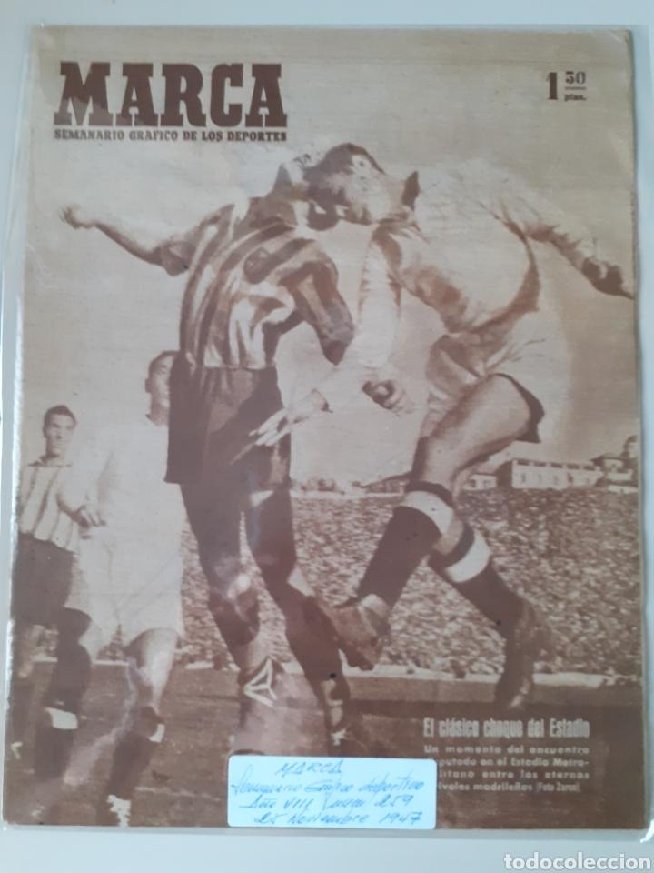 MARCA SEMANARIO GRÁFICO DEPORTIVO NÚMERO 259 FECHA 25 DE NOVIEMBRE DE 1947 (Coleccionismo Deportivo - Revistas y Periódicos - Marca)