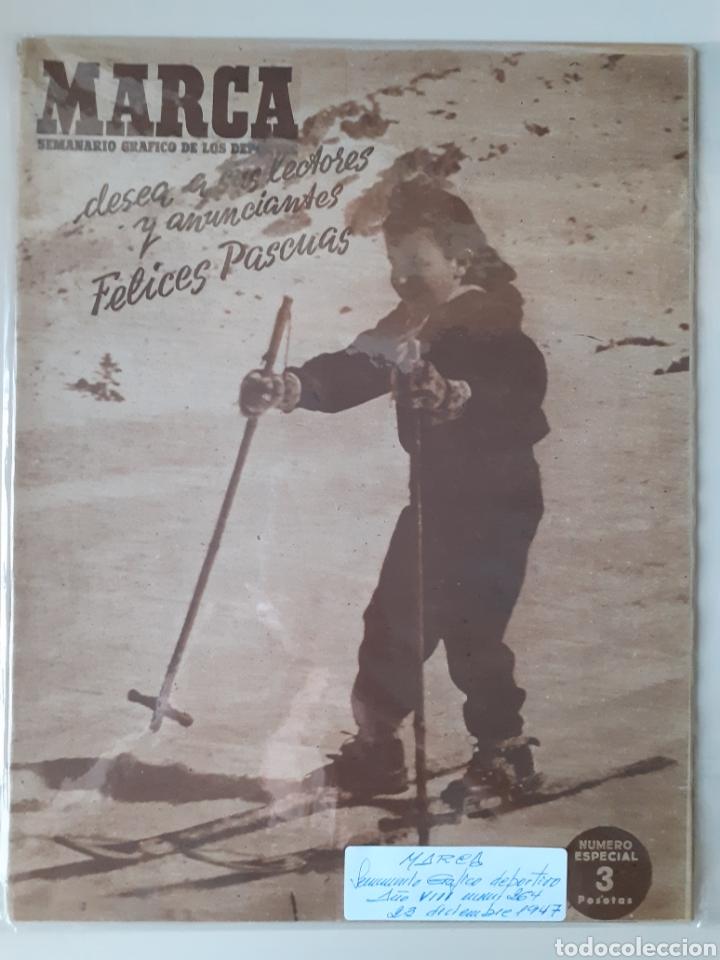 MARCA SEMANARIO GRÁFICO DEPORTIVO NÚMERO 264 FECHA 23 DE DICIEMBRE DE 1947 (Coleccionismo Deportivo - Revistas y Periódicos - Marca)