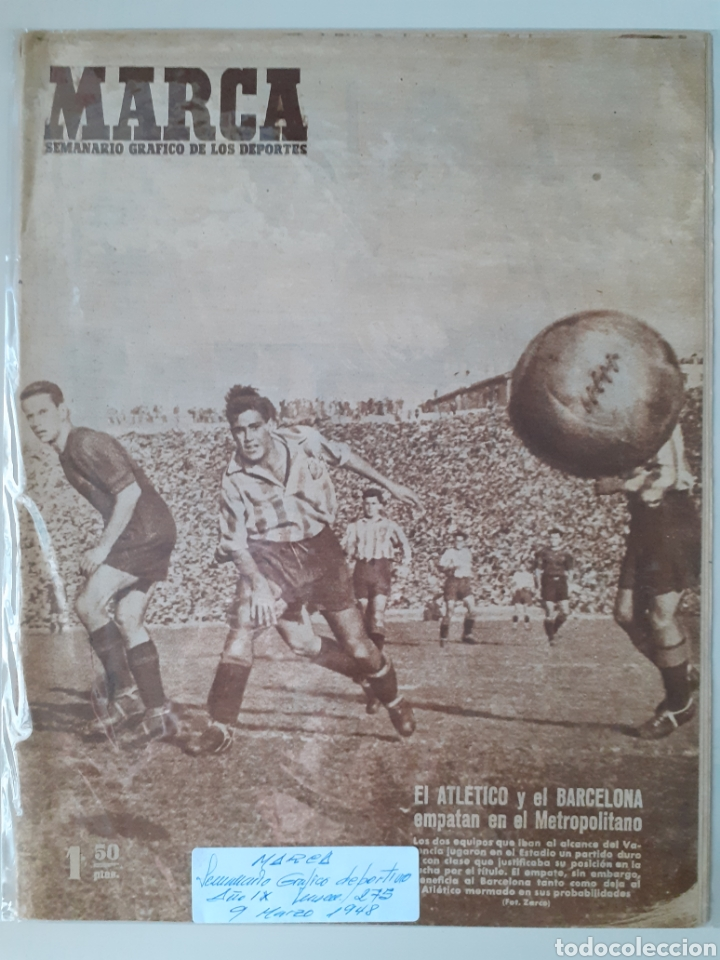 MARCA SEMANARIO GRÁFICO DEPORTIVO NÚMERO 275 FECHA 9 DE MARZO DE 1948 (Coleccionismo Deportivo - Revistas y Periódicos - Marca)