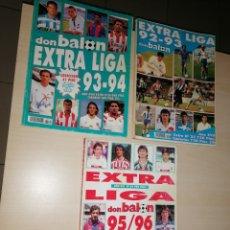 Coleccionismo deportivo: LOTE DON BALÓN, EXTRA LIGA 92-93, 93-94, 95-96.. Lote 263021010