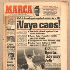 Coleccionismo deportivo: MARCA (13 SEPTIEMBRE 1984). HUELGA FÚTBOL, REAL MADRID-ARSENAL, MIGUEL MUÑOZ, MANUEL PIÑEIRO, ASPAR,. Lote 263035280