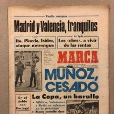 Coleccionismo deportivo: MARCA (9 DICIEMBRE 1981) MIGUEL MUÑOZ CESADO, REAL MADRID, VALENCIA, COPA DEL REY, SUB-16 Y SUB-18. Lote 263035495