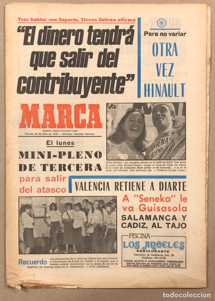 MARCA (20 JULIO Ñ 1979). HINAULT EN EL TOUR, LOBO DIARTE SE QUEDA EN VALENCIA, GUISASOLA, (Coleccionismo Deportivo - Revistas y Periódicos - Marca)