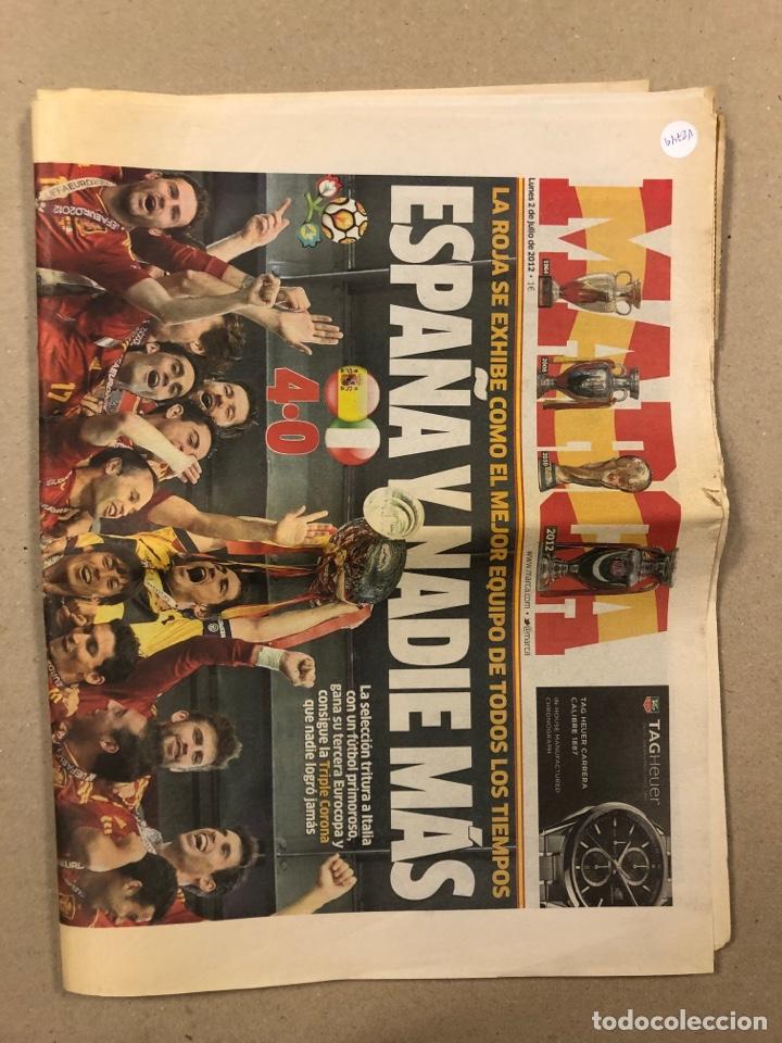 Coleccionismo deportivo: MARCA (2 JULIO 2012). ESPAÑA CAMPEÓN EUROCOPA 2012. NÚMERO ESPECIAL DE 64 PÁGINAS. - Foto 2 - 263036415