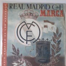 Colecionismo desportivo: MARCA SEMANARIO GRÁFICO DEPORTIVO ESPECIAL BODAS DE ORO DEL REAL MADRID AÑO 1952. Lote 263063015