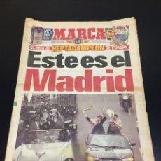 Colecionismo desportivo: PERIÓDICO ANTIGUO MARCA 22 DE MAYO DE 1998. ESTE ES EL MADRID. COMPLETO. Lote 263559995