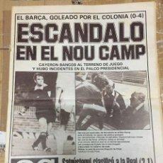 Coleccionismo deportivo: AS(6-11-1980)BARCELONA COLONIA REAL MADRID VALENCIA CARL ZEISS JENA REAL SOCIEDAD PEDRO CASADO CAPON. Lote 263638915