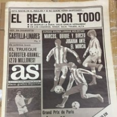 Coleccionismo deportivo: AS (1-11-1980) LOPEZ MAESO FELIPE MESONES DOMINGO CAREAGA ATLETICO MADRID. Lote 263639820