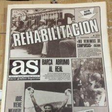 Coleccionismo deportivo: AS (26-10-1980) REAL MADRID OSASUNA MUNDIAL ESPAÑA MARCELINO CAMPANAL MARINA ATLETICO RUAN REUS. Lote 263640325