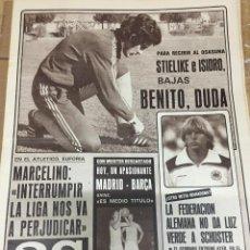 Coleccionismo deportivo: AS (25-10-1980) SCHUSTER MARCELINO ATLETICO MADRID MUNDIAL ESPAÑA GUILLERMO CAMPANAL. Lote 263640480