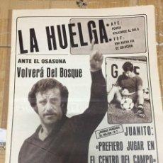 Coleccionismo deportivo: AS (24-10-1980) DEL BOSQUE REAL MADRID HUELGA PEPE MUGUERZA MUNDIAL ESPAÑA ALBERTO CALLEJO JUANITO. Lote 263640685