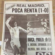 Coleccionismo deportivo: AS(23-10-1980)COLONIA 0-1 BARCELONA REAL MADRID HONVED ISACIO CALLEJA ATLETICO MADRID QUIQUE RAMOS. Lote 263641125