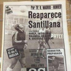 Coleccionismo deportivo: AS(22-10-1980) HOY REAL MADRID HONVED BUDAPEST COLONIA BARCELONA CALVET OVIEDO ROBERTO DUQUE. Lote 263641535