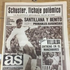 Coleccionismo deportivo: AS (17-10-1980) BERND SCHUSTER FICHAJE BARCELONA REAL MADRID DE FELIPE ATLETAS. Lote 263642460