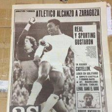 Coleccionismo deportivo: AS (13-10-1980) ATLETICO MADRID ZARAGOZA SPORTING GIJON GODO TENIS GETAFE JORNADA LIGA REAL MADRID. Lote 263642915