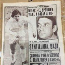 Coleccionismo deportivo: AS (12-10-1980) SANTILLANA CARRIEGA SPORTING GIJON BURGOS CASTAÑON BOXEO HECTOR RIAL ARTECHE. Lote 263643105