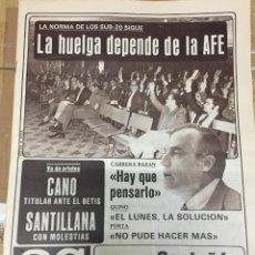 Coleccionismo deportivo: AS (11-10-1980) HUELGA AFE CASTAÑON BOXEO BERNABEU LASZLO BUDAI HONVED REAL MADRID. Lote 263644510