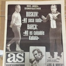 Coleccionismo deportivo: AS (8-10-1980) BOSKOV ROBIC CICLISMO AGUILERA TENIS GARRIGA JONES WILLIAMS GORDILLO BETIS. Lote 263645695