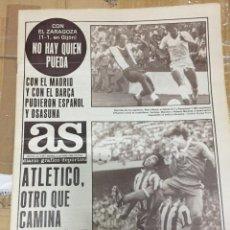 Coleccionismo deportivo: AS (6-10-1980)SPORTING GIJON 1-1 ZARAGOZA ATLETICO MADRID REAL RAYO 0-0 RACING GETAFE SANTOS CAMPANO. Lote 263645880