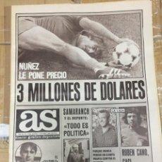Coleccionismo deportivo: AS (3-10-1980) HUGO CABEZAS WEST HAM CASAL TENIS BASCONIA LEAL ATLETICO MADRID. Lote 263646305