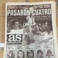 Coleccionismo deportivo: AS (2-10-1980) REAL MADRID 5-1 LIMERICK WEST HAM 5-1 CASTILLA VALENCIA SPORTING 2-1 BOHEMIANS UJPEST. Lote 263646860
