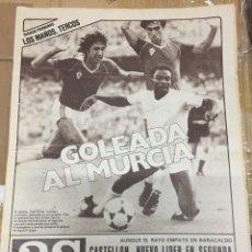Coleccionismo deportivo: AS (29-9-1980) REAL MADRID MURCIA SABADELL ATLETICO MADRILEÑO PEPE BRAVO. Lote 263647635
