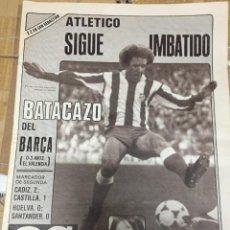 Coleccionismo deportivo: AS (28-9-1980) DIRCEU ATLETICO MADRID CUSTODIO MURCIA REAL MADRID LIMERICK CRISANTO BOSCH BALONCESTO. Lote 263648030